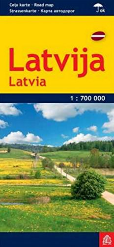 Latvia Road Map (English, German and Russian Edition)