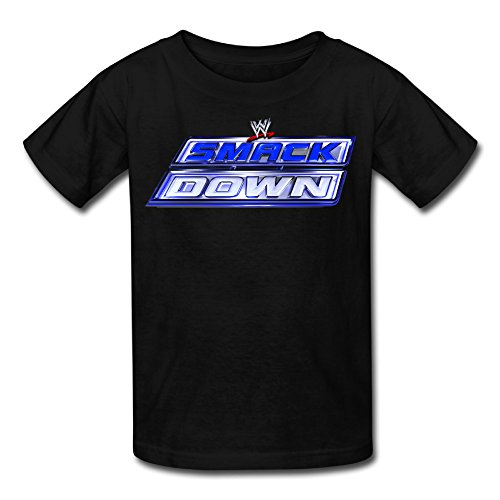 Kid's 100% Cotton WWE Friday Night SmackDown Cute T-Shirt Black US Size XS