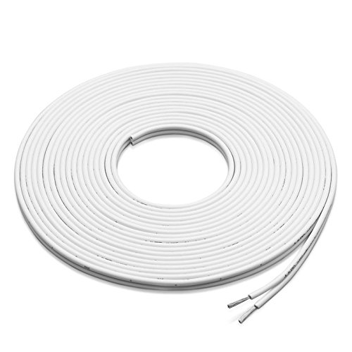 JL Audio XM-WHTSC16-25 25 ft. White 16 AWG Parallel Conductor Speaker Cable (Jl Audio Wire Speaker)
