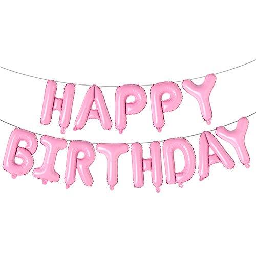Happy Birthday Balloons, Aluminum Foil Banner Balloons for