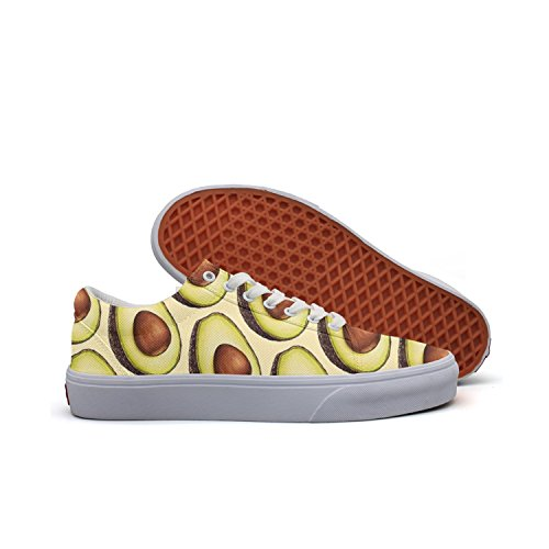 (Milner Gilese Avocado Fruit Pattern Print Sneaker Flat Canvas Shoes For Womens Stylish)