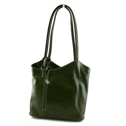 Leder Italienische Echtem Lederwaren Farbe Aus Schultertasche Damentasche Grün Eq6xwXTA