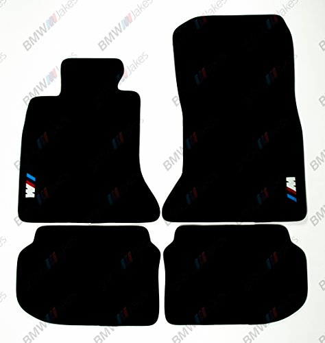 NEW CAR FLOOR MATS BLACK with ///M EMBLEM for BMW 5 series F10 2009, 2010, 2011, 2012, 2013, 2014, 2015, 2016 by VOPI MATS (Image #7)'