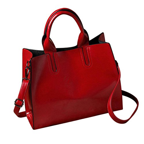 Shoulder Bag Woman Red Leather Huhu833 Crossbody Modern Stylish Messenger Bag 0gqUv5