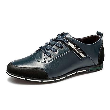 男 Aemember scarpe Primavera e autunno casual fascetta metallica Comfort Scarpe Uomo Scarpe ,40, blu