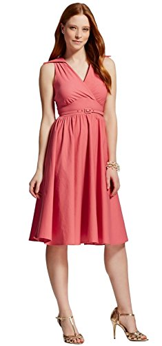 Stop Staring! Women's Nadine Dress with belt (6, Coral)