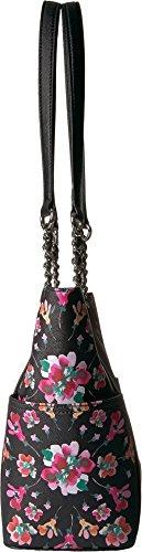 Calvin Klein artículo clave floral impreso Saffiano cadena totalizador