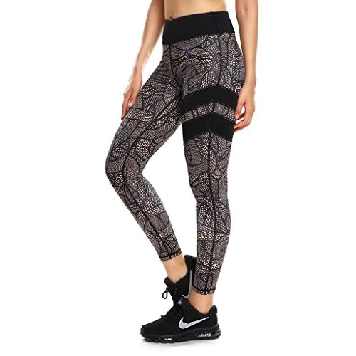 Cheap BIGSHINE Womens Jungle Flowers Printed Fitness Running Gym Leggings Workout Yoga PantsXS-XL