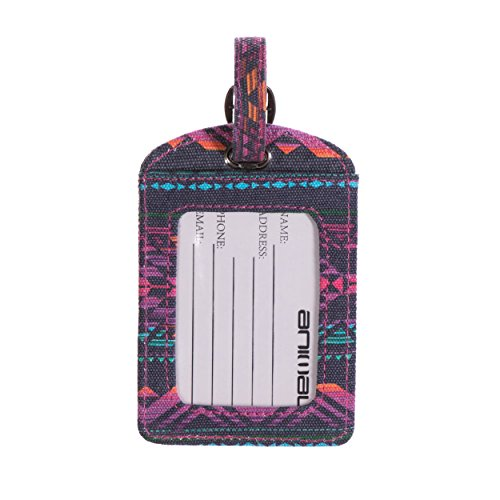 Animal Travellers Set Passport Cover & Luggage Tag - Midnight
