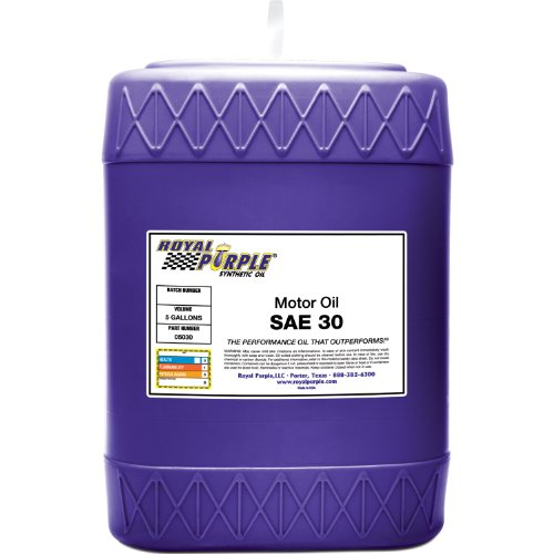 Royal Purple 05030 SAE 30 Heavy Duty High Performance Synthetic Motor Oil - 5 gal. by Royal Purple
