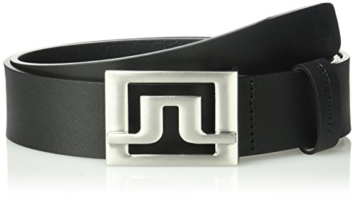 J.Lindeberg Men's Slater 40 Pro Leather Golf Belt, Black
