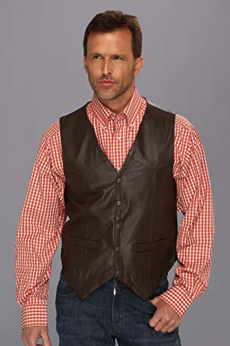 (Scully Men's Leather Vest Brown XX-Large)