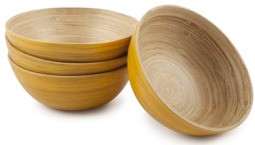 Core Bamboo 2920 Modern Small Round Bowls, Squash, Set of ()