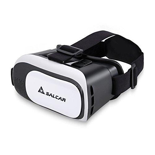 Salcar 3D Virtuelle Realität (VR) Brille für 4.5 - 6 Zoll Smartphones, Weiß