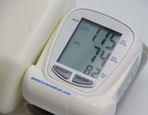 Eastshore B22y Wrist Blood Pressure Monitor 90 Memory FDA Approved, Battery ()