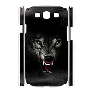 Durable Material Phone Case With Wolf Image On The Back For Samsung Galaxy S3