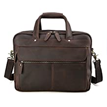 Tiding Men Leather Messenger Bag Laptop Business Office Briefcase Satchel