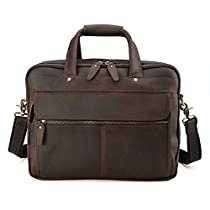 Tiding Men Leather Messenger Bag Laptop Business Office Briefcase Satchel