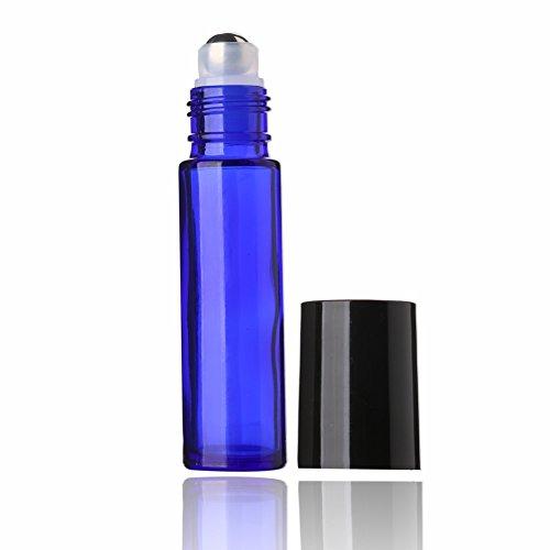 Sinide 6 Pack Blue Glass Roll On Bottles 10ml Essential