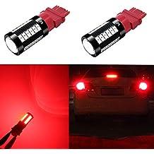 Alla Lighting 2800lm 3156 3057 3157 LED Red Turn Signal Brake Lights Bulbs Xtreme Super Bright T25 3156 3157 LED Bulb 5730 33-SMD LED 3157 Bulb 3057 3457 4157 4057 LED Blinker Signal Stop Tail Lights