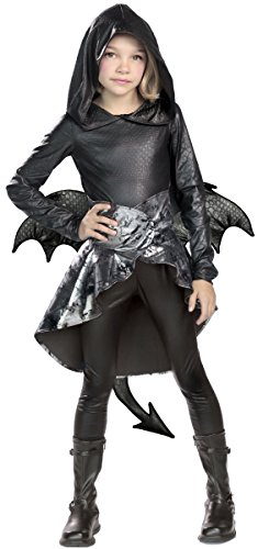 Princess Paradise Onyx Dragon Costume, Large ()