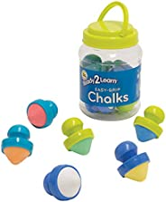 Ready 2 Learn Easy Grip Chalk - 6 Colors - 18m+ - Non-Toxic Toddler Sidewalk Chalk - Easiest to Hold - Refills