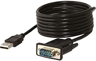 Sabrent Sabrent USB 2.0 to Serial (9-Pin) DB-9 RS-232 Adapter Cable 6ft Cable [FTDI Chipset] (CB-FTDI)