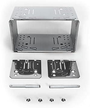 XOMAX Universal 2-DIN (Doble DIN) Marco de Montaje/ensamblaje del Eje de Metal + Juego Completo Incluye 4 Tornillos, 2 Placas de Montaje y 2 Retire Las Llaves: Amazon.es: Coche y moto