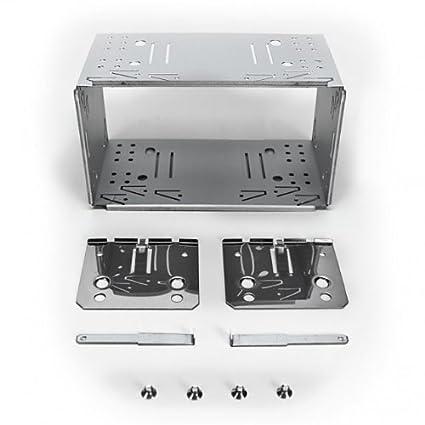 XOMAX Universal 2-DIN (Doble DIN) Marco de Montaje/ensamblaje del Eje de Metal + Juego Completo Incluye 4 Tornillos, 2 Placas de Montaje y 2 Retire ...