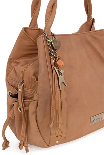 Grand cuir signé main en à Caz Tanne Collection Catwalk sac rwUqPxr
