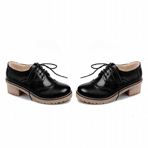Spectacle Briller Mode Féminine Chunky Talon Oxfords Chaussures Noir