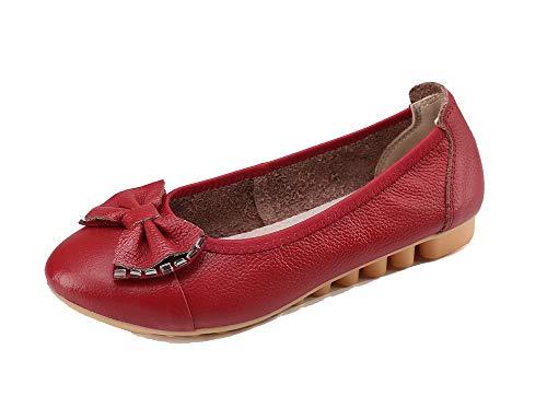 Chaussures Bas Gmbda015925 Agoolar Unie Talon Rond À Rouge Tire Couleur Femme Légeres CCHwqRxg