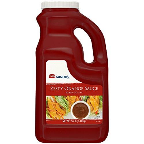 (Minor's Zesty Orange Sauce, Stir Fry Sauce, Chicken and Seafood Glaze, Asian Food Service, 5.4 lb )