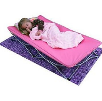 BEST PRICE New Portable Toddler Bed, Pink - Drawer Half Log