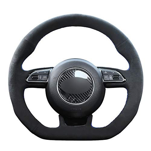 LUVCARPB Car Steering Wheel Cover,Fit for Audi A5 A7 RS 5 RS 7 S3 S4 2013-2015 2016 S5 2013 2014-2017 S6