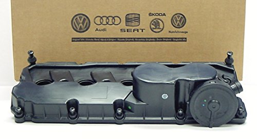 Genuine OEM Volkswagen Valve Cover with PCV Valve, Gasket and Bolts for 2.5 Jetta Rabbit Golf Passat 2006-2014