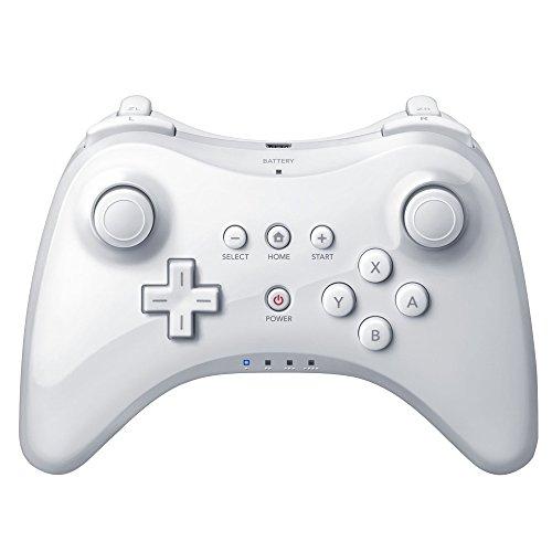 J&T Wireless Wii U pro Controller Gamepad for Wii U Console - White