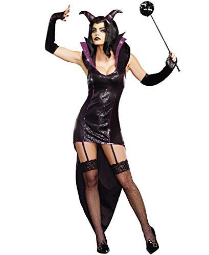 Dreamgirl 9475 Queen Of Darkness Costume - X-Large - Black - Queen Of Darkness Costume