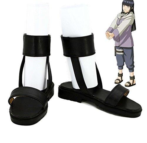NARUTO Anime Hyuga Hinata Cosplay Shoes Boots Custom Made Nine-Tails Chakra Mode