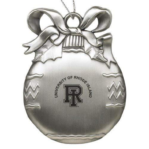 University of Rhode Island - Pewter Christmas Tree Ornament - Silver