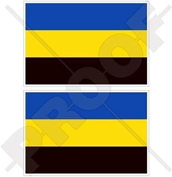 """Decal x1+2 BONUS GELDERLAND Flag Netherlands Nederland Dutch 100mm 4/"""" Sticker"""