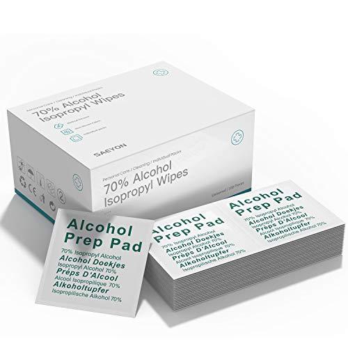 🥇 SAEYON [100 Piezas] Hisopos de Alcohol