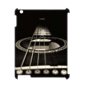 3D IPad 2,3,4 Case Guitar Strings, Protector Cute Guitar Shape Alam85, {White}