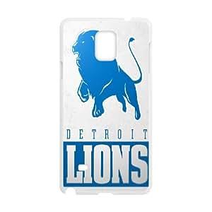 Detroit Lions Team Logo Samsung Galaxy Note 4 Cell Phone Case White DIY gift zhm004_8726681