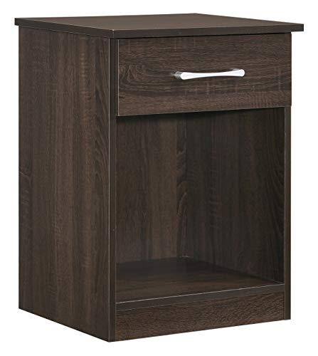 Glory Furniture Lindsey G0044-N RTA, Wenge Nightstand, Side Table, 24