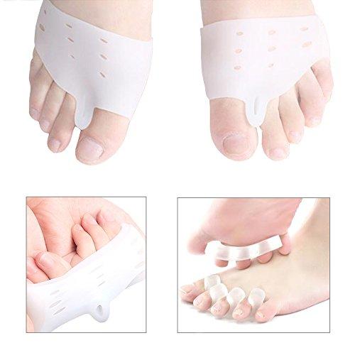 Heatoe Toe Separators Toes Overlapping Toes Corrector Toe Rings Bunion Toe Separators Crossover Toe Straightener Toe Back Straightener Front Foot Pad A Pair of Toes Separators for Men and Women