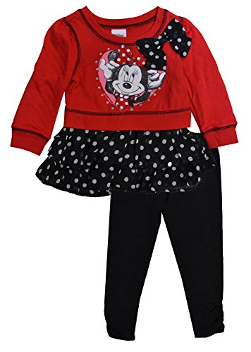 Minnie Mouse Toddler Outfit (Disney Toddler Girls Minnie Mouse Pullover 2 piece Leggings Set (3T))
