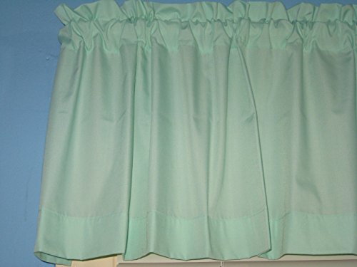 Solid Mint Green Handmade Window Curtain Valance