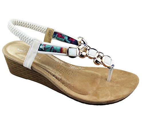 Sandalias de brand para vestir blanco katt mujer qF6B8B5