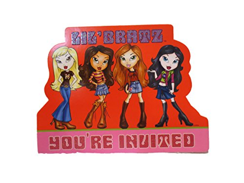- 8 Lil' Bratz Fill-in Invitations with Pink Envelopes
